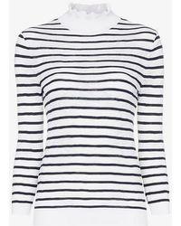 Chloé - Turtleneck Striped Cotton Blend Jumper - Lyst