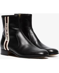 Gucci - Stripe Leather Boots - Lyst