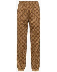 Gucci - Gg Print Side Stripe Track Trousers - Lyst