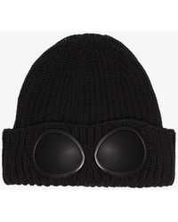 C P Company - Black Wool Hat Sunglasses Detail - Lyst