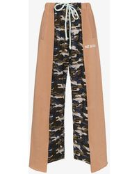 Natasha Zinko - Camouflage Panelled Cotton Blend Track Trousers - Lyst