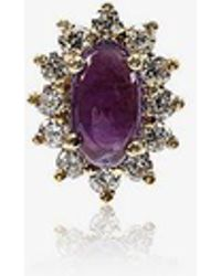 Rosa De La Cruz - Amethyst And Diamond Single Stud Earring - Lyst