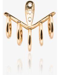 Yvonne Léon - 18k Yellow Gold 5 Creoles Earring - Lyst