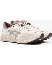 Asics - Nude And Red Roadhawk Ff Sakura Trainers - Lyst