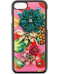 Dolce & Gabbana - Tropical Fruit Embellished Iphone 6 Case - Lyst