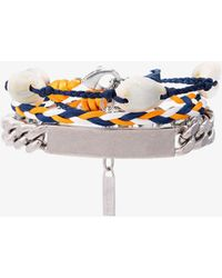 Balenciaga - Shell Logo Braided Bracelet - Lyst