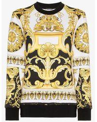 Versace - Baroque Printed Sweatshirt - Lyst