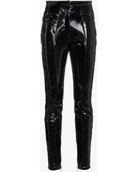 Balmain - High Waisted Pvc Trousers - Lyst