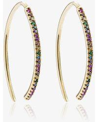 Ileana Makri - Rainbow Hoop Earrings - Lyst