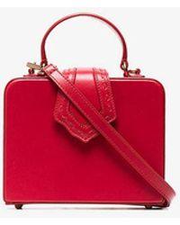 Mehry Mu - Red Fey Mini Leather Box Bag - Lyst