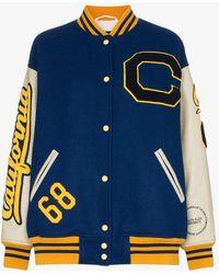 CALVIN KLEIN 205W39NYC - Virgin Wool Varsity Jacket - Lyst