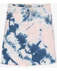 Ashley Williams - Tye Dye Denim Mini-skirt - Lyst