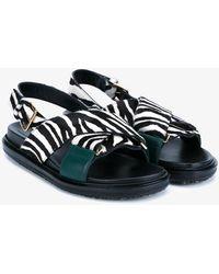Marni - 'fussbett' Zebra Sandals - Lyst