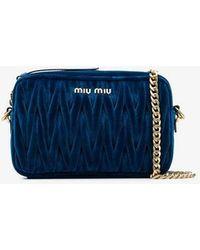 3cf26c5550ba Miu Miu - Matelassé Shoulder Bag - Lyst