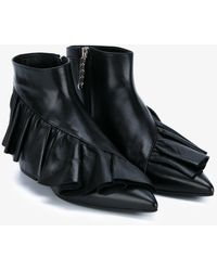JW Anderson - Ruffle Ankle Booties - Lyst