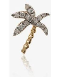 Yvonne Léon 18k Yellow Gold Palm Tree Diamond Earring - Metallic