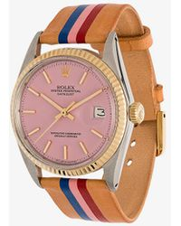 La Californienne - Flamingo Capitola Rolex Oyster Perpetual Leather Watch - Lyst