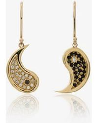 Established - Metallic Yin And Yang 18k Gold Diamond Earrings - Lyst