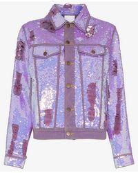 Ashish - X Browns Sequin Embellished Denim Jacket - Lyst