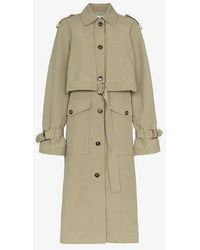 Rejina Pyo - Long Sleeve Cotton Blend Belted Trench Coat - Lyst