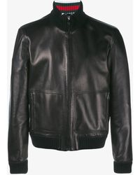 Gucci - Leather Bomber Jacket - Lyst
