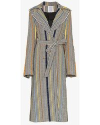 Rosie Assoulin - Pied De Poule Belted Trench Coat - Lyst