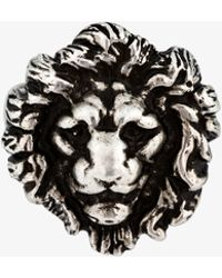 Saint Laurent - Brass Lion Head Ring - Lyst