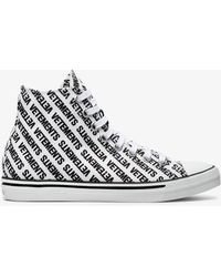 Vetements - Logo Print High Top Canvas Trainers - Lyst