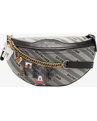 Balenciaga - Grey And Black Xs Souvenir Belt Bag - Lyst