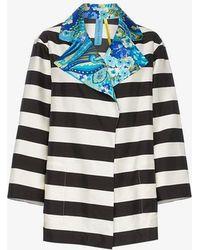 Rianna + Nina - Multi-print Collared Silk Jacket - Lyst