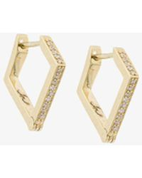 18kt gold Kite diamond stud earrings Lizzie Mandler 6o09n3Xn