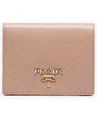 Prada - Saffiano Foldover Wallet - Lyst