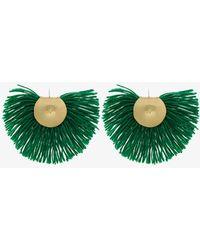 Katerina Makriyianni - Fringed Wool Earrings - Lyst