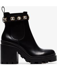 9188512eab7 Lyst - Gucci Boots - Women s Ankle Boots   Leather Boots