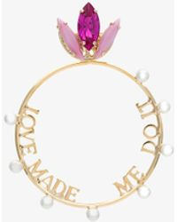 Anton Heunis - Gold Plated Love Made Me Do It Swarovski Crystal Earring - Lyst