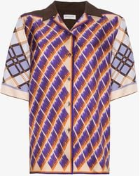Dries Van Noten - Geometric Print Silk Shirt - Lyst