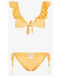 Hunza G - Bonita Frill Bikini - Lyst