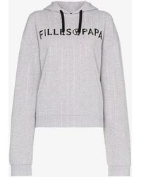 Filles A Papa - Tracy Long Sleeve Cropped Hoodie - Lyst