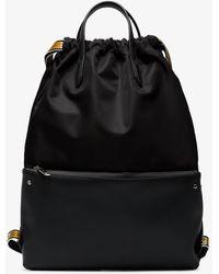 Fendi - Drawstring Logo Backpack - Lyst