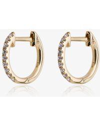 Rosa De La Cruz - 18k Yellow Gold And Diamond Hoops - Lyst