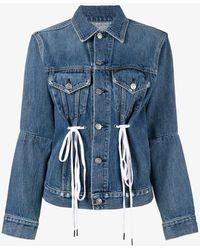 Proenza Schouler - Denim Jacket With Drawstring Waist - Lyst