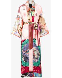 Rianna + Nina - Long Multi-printed Kimono Jacket - Lyst