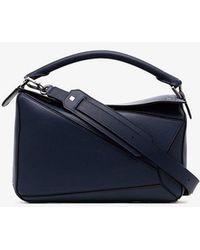 fabb18e691f7 Loewe - Navy Blue Puzzle Medium Leather Shoulder Bag - Lyst