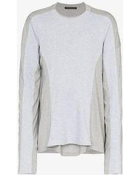 Y. Project - Grey Long Sleeve Double T-shirt - Lyst