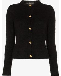 Versace Gold Tone Button Knitted Cardigan