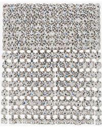Alessandra Rich - Rectangular Crystal Embellished Brooch - Lyst