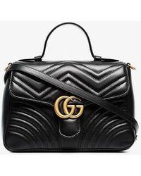 8003a9c9668d Gucci - Gg Marmont Small Top Handle Bag - Lyst · Gucci - Gg Marmont  Matelassé Leather Shoulder ...