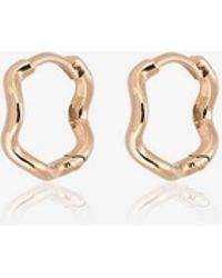 Sabine G - 18k Rose Gold Wave Huggie Hoops - Lyst