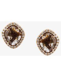 Saqqara - Sliced Diamond Earrings - Lyst