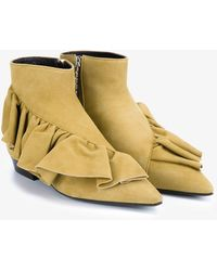 JW Anderson - Ruffle Ankle Boots - Lyst